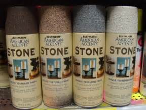 Krylon Stone Spray Paint - making a background using krylon rock spray paint