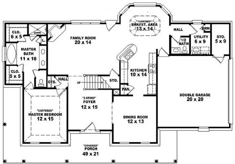5 bedroom farmhouse floor plans 654118 one and a half story 3 bedroom 2 5 bath