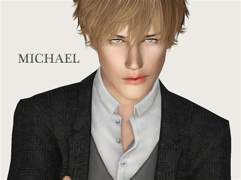 download hair the sims 3 male ms blue s michael blue