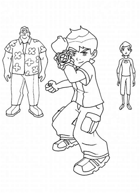 Online Coloring Book Pages Coloring Online For Kids Coloring Ben 10