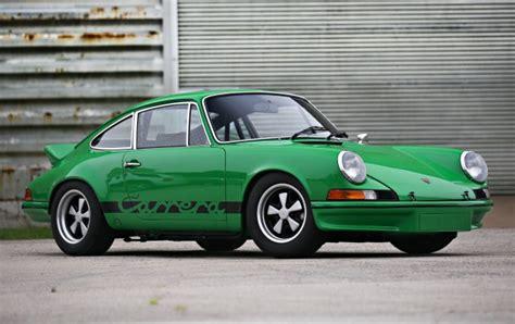 porsche 911 viper green 1973 porsche 911 carrera 2 7 rs lightweight gooding