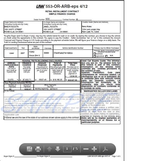 Retail Installment Contract Forms Seven Things You Should Retail Installment Contract Template