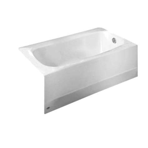 American Standard Cambridge 5 Ft X 32 In Right Drain Americast Soaking Tub In White