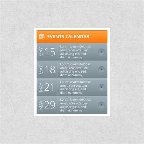 calendar layout for website events calendar webportio graphical resource of adobe