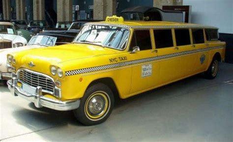 open checker taxi service cars show
