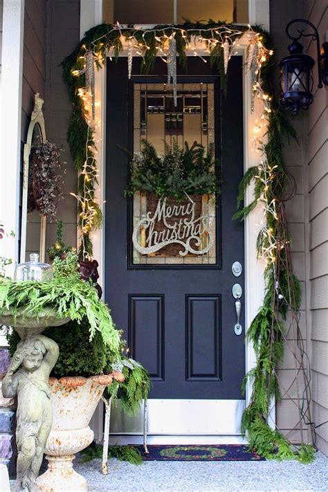 christmas ideas  christmas front door entry  porch