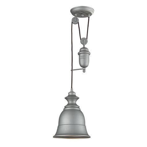 Aged Pewter Light Fixtures Titan Lighting Farmhouse 1 Light Aged Pewter Ceiling Mount Pendant Tn 10150 The Home Depot
