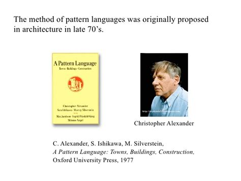 pattern language methodology experience mining and dialogues with a pattern language