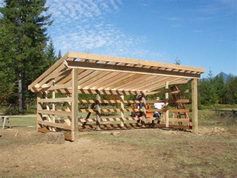 horse loafing shed plans verma
