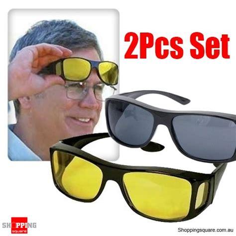 New Arrival Hd Vision Wrap Arounds Kacamata Anti Silau Isi 2 Pcs N hd vision wraparounds sunglasses 2 pcs 1 set uv protection shopping shopping square