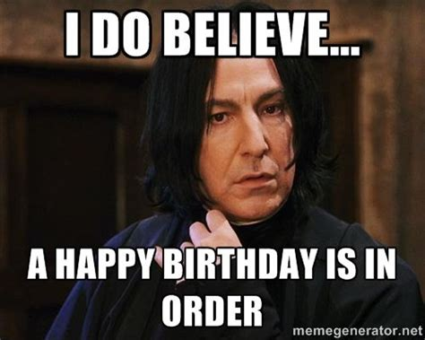 Harry Potter Happy Birthday Meme - best snape harry potter memes