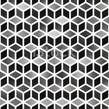 pattern for a cube shape vector seamless gradient cube shape rhombus grid geometric