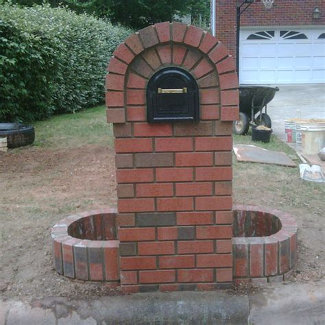 Brick Mailbox With Planter by Make Your Post Envious With Brick Mailbox Designs Homesfeed
