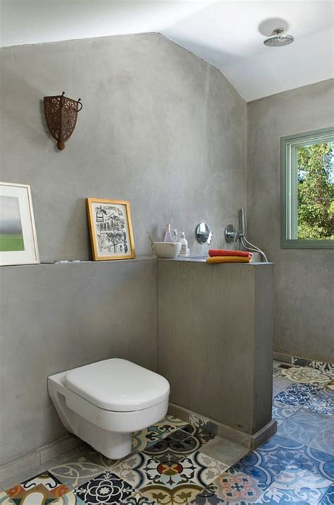 cement tile bathroom floor patchwork tiles mix and match your favorite colors for a