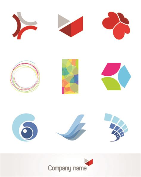 vector design logo free download creative 3d logo design vector set 01 vector logo free