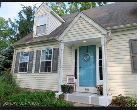 siding navy blue shutters search house