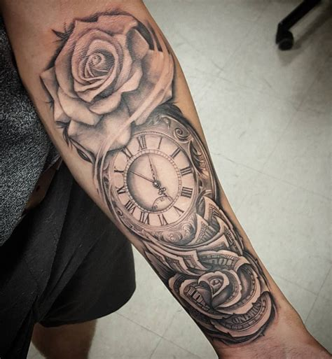 money sleeve tattoo designs time is money so honored to clients that travel 14