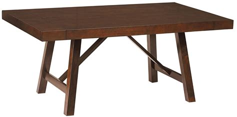 standard furniture omaha brown trestle dining room table