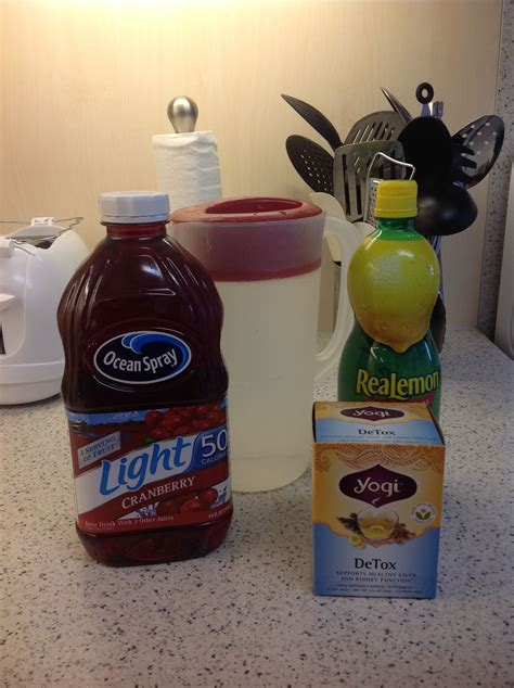 Cranberry Juice And Lemon Water Detox by Tomorrow I Am Going To Start The Jillian Cleanse