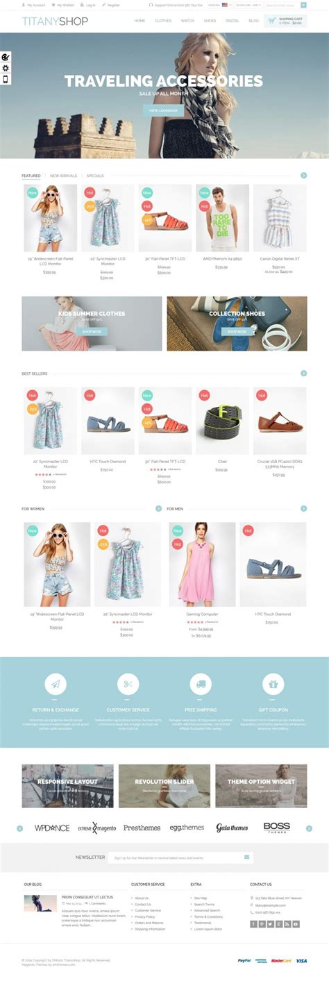 themes magento titany responsive magento theme themes for download