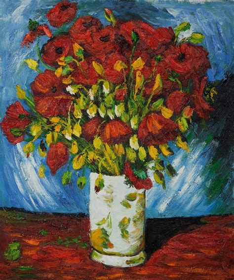 vase with poppies 1886 vincent gogh vincent