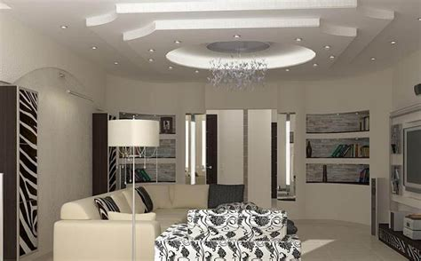 Living Room Gypsum Ceiling by