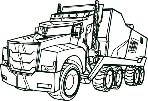Optimus Prime Coloring Page by Optimus Prime Truck Coloring Page