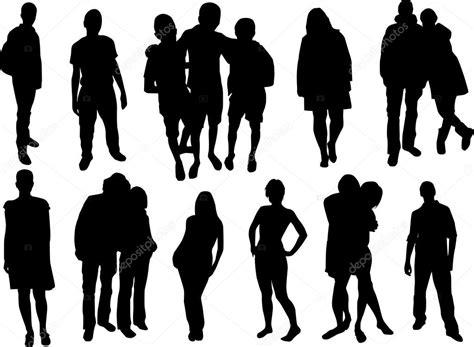 imagenes vectoriales personas conjunto de siluetas de personas archivo im 225 genes
