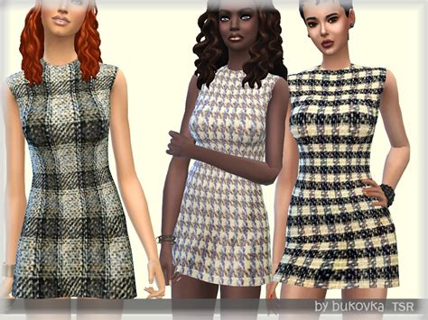 Tya Dress bukovka s dress tweed tya