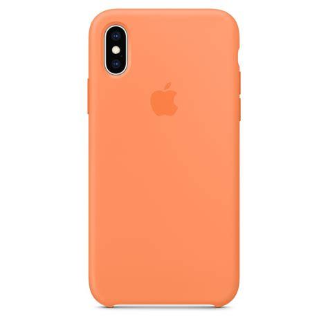 iphone xs silicone case papaya apple
