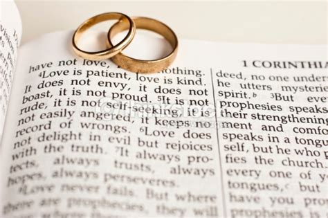 Wedding On Bible by Wedding Rings On Bible Passage Stock Photo Thinkstock