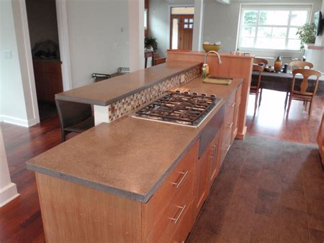 concrete countertops contemporary kitchen countertops