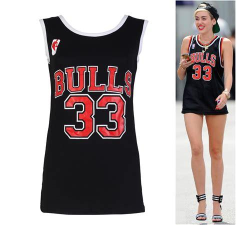 Tshirt Chicago Basketball womens top chicago bulls miley cyrus basketball