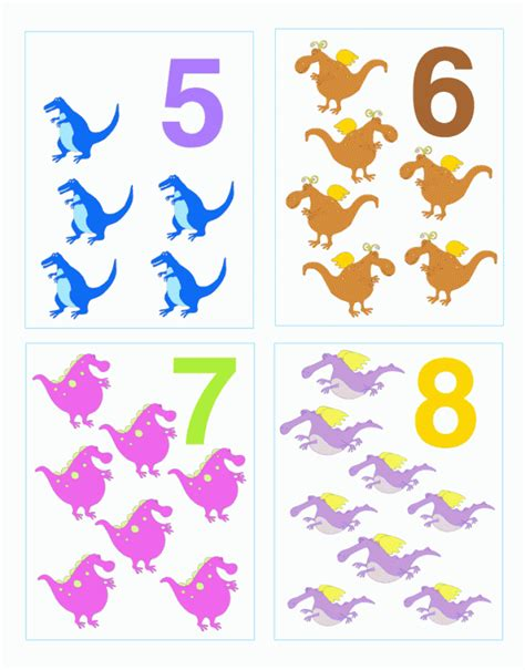 printable dinosaur numbers free printable number flash cards 1 20 search results