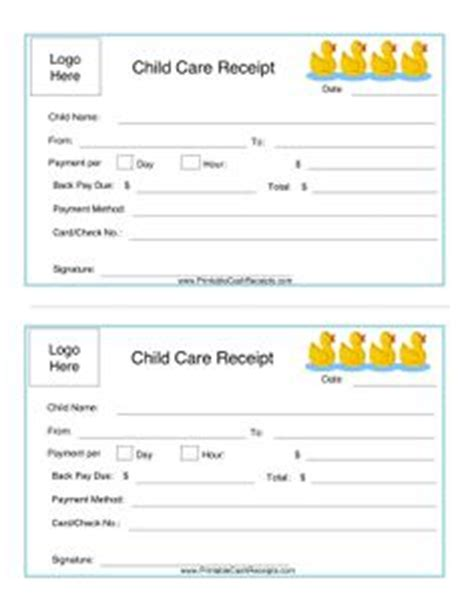 Child Care Receipt Joy Studio Design Gallery Best Design Child Care Receipt Template Free