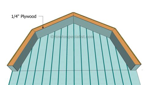 how to build gambrel roof how to build a gambrel roof shed howtospecialist how to build step by step diy plans