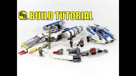 lego war tutorial lego star wars 75155 alternative build rebel aerial attack