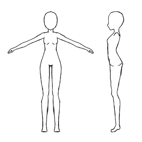 body templates for blender base female body reference sheet by jugapugz on deviantart