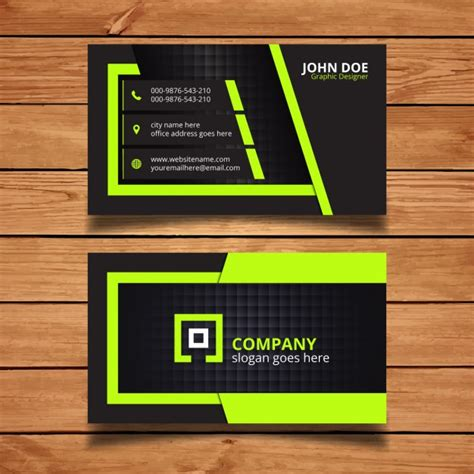 company id card design vector free download green and black corporate business card design vector