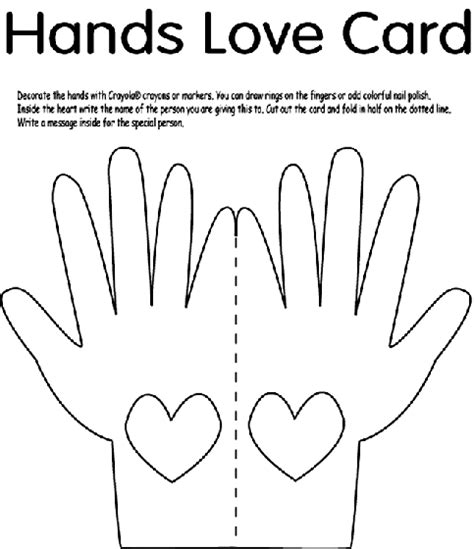 sunday school coloring pages on love hands love card coloring page art class pinterest