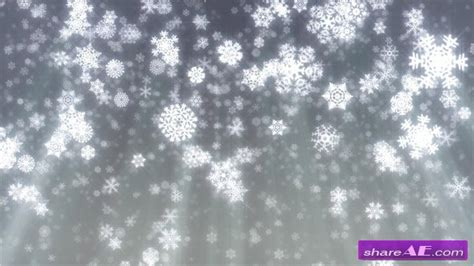 Christmas Snowflakes Falling On Grey Background Stock Footage Istock Video 187 Free After Falling Snow After Effects Template