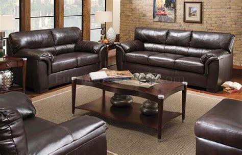 walnut bonded leather sofa loveseat set