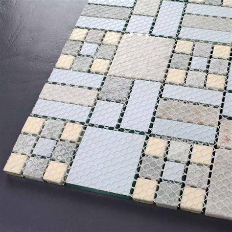Crystal Mosaic Tile Backsplash Kitchen design colorful