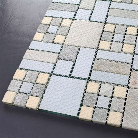 Crystal Mosaic Tile Backsplash Kitchen design colorful