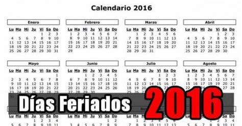 prximo feriado 2016 noticias informaci 243 n d 237 as feriados 2016 en rep 250 blica
