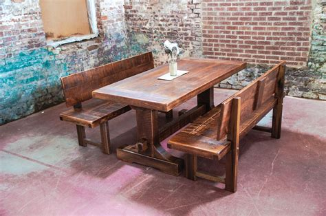 Dining Tables With Benches Ireland by Narrow Dining Table With Bench For Small Spaces