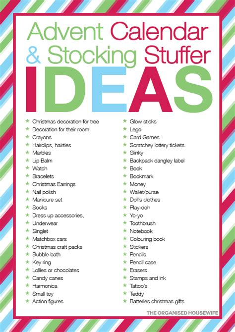 stocking stuffer ideas 101 stocking stuffer ideas for kids the organised housewife