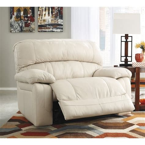 wide recliner sale ashley damacio leather zero wall wide seat recliner in