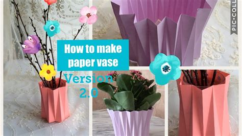 How To Make A Paper Vase - how to make paper vase diy craft version2 0