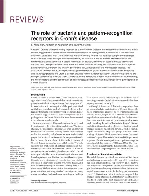 pattern recognition receptors pdf the role of bacteria and pdf download available